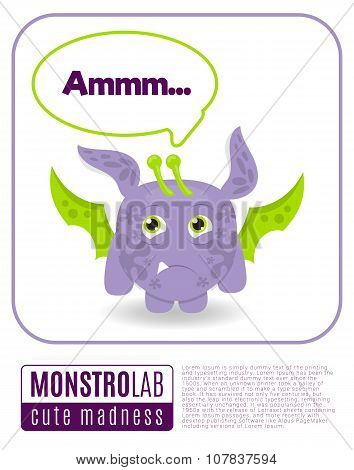 Illustration of a monster saying ammm.