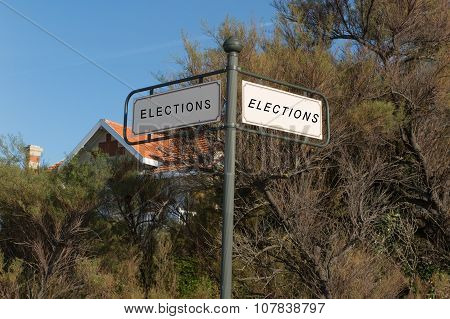 Panel For Election Direction Right Or Left Your Choice