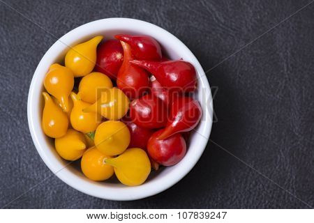 Yellow And Red Chili Peppers