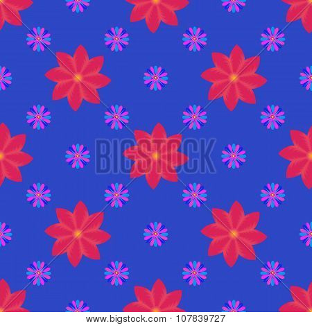 Vector Seamless Backgraund With Flowers