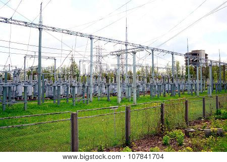 Electric Transformers In Vilnius City Pasilaiciai District