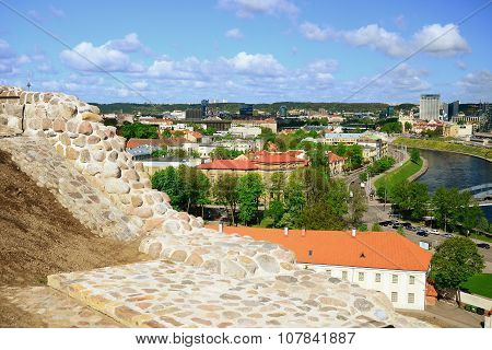 View To The Vilnius City From Gediminas Castle Hill