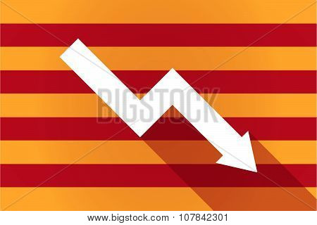 Long Shadow Catalonia Vector Flag With A Descending Graph
