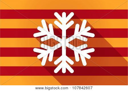 Long Shadow Catalonia Vector Flag With