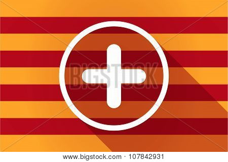 Long Shadow Catalonia Vector Flag With A Sum Sign