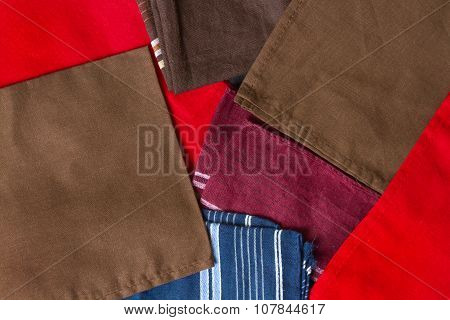 Folded Colorful Towels