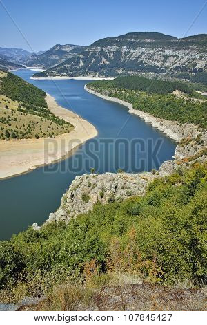 Amazing view of Arda River and Kardzhali Reservoir