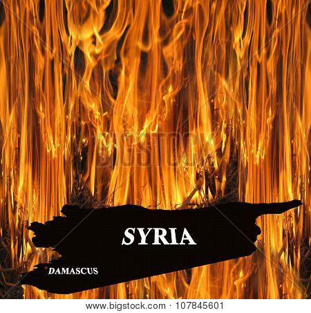 Map Of Syria On Fire