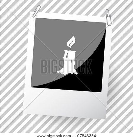 candle. Photoframe. Vector icon.