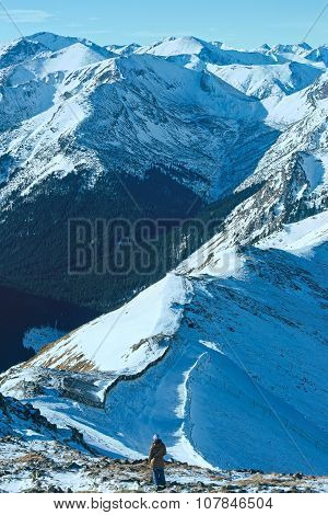 Kasprowy Wierch  In The Western Tatras. Winter View.