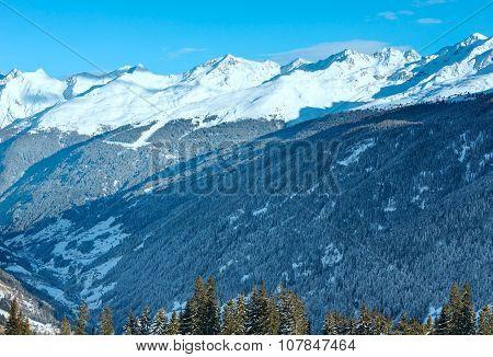 Winter Mountain Landscape. Kappl Ski Region, Austria.