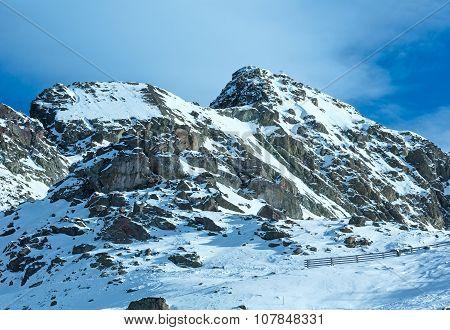 Winter Rocky Mountain View ( Austria).