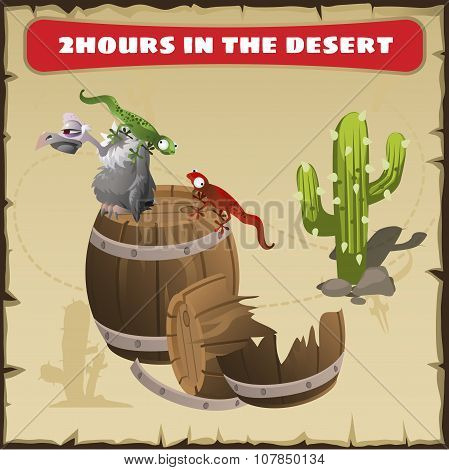 Two hours in the desert. A funny scene