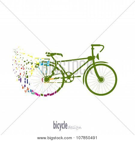 Bicycle Silhouette Color