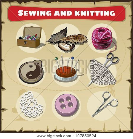 Sewing and knitting set