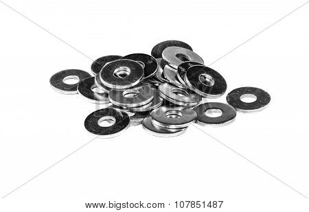 A Handful Of Metal Washers