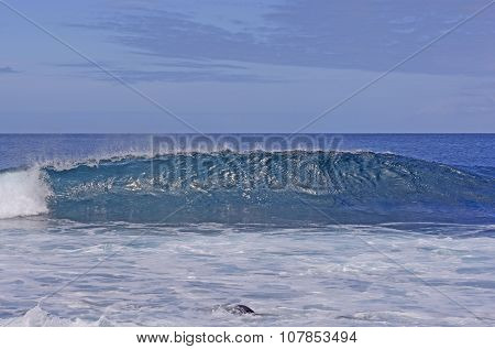 Cresting Wave On A Tropical Ocean
