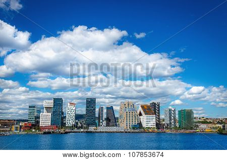 Modern business architecture in the center of Oslo, Norway