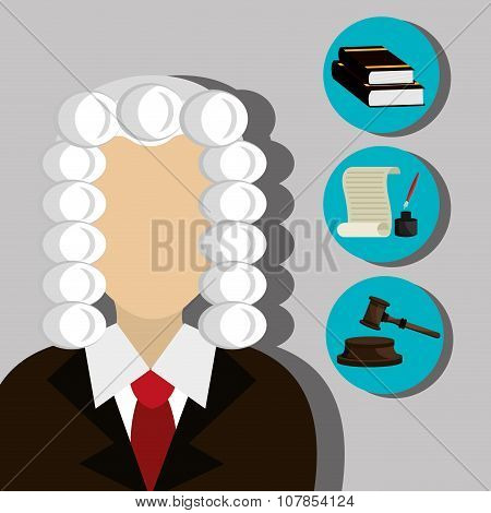 Law and legal justice graphic