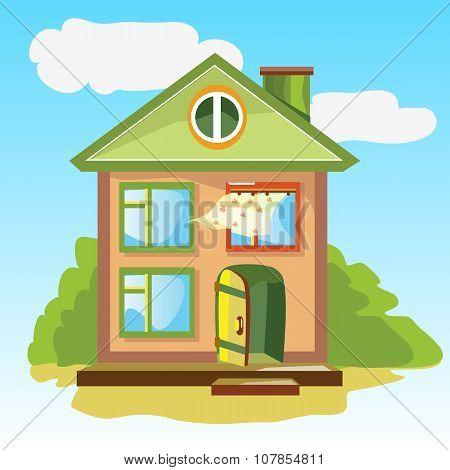 Welcoming home with an open door