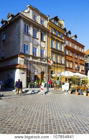 Castle Square In The Old Town, Warsaw