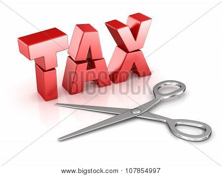 Scissors Cut Tax Word