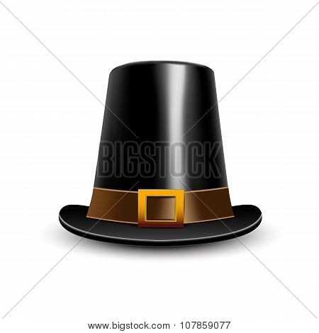 Pilgrim Hat. Thanksgiving Symbol.