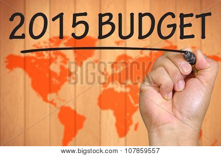 Blur World Background And Hand Writing 2015 Budget