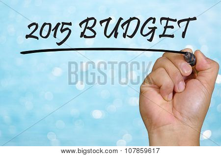 Bokeh Background And Hand Writing 2015 Budget