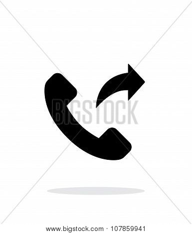 Call forwarding simple icon on white background.