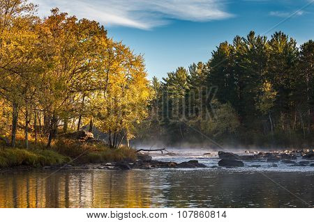 Sunrise On The Autumn River