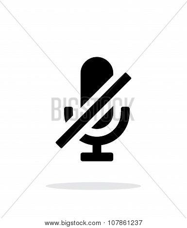 Turn off microphone simple icon on white background.