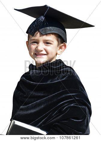 Happy Kid Graduate With Graduation Cap