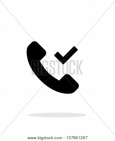 Phone call accept simple icon on white background.
