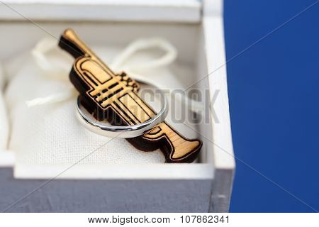 Wooden Saxophone In Box