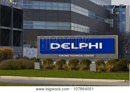 Kokomo - November 2015: Delphi Automotive CTC Building.