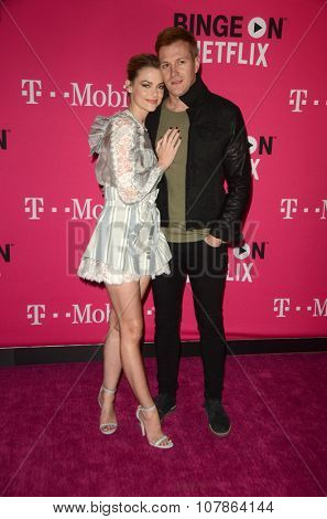 LOS ANGELES - NOV 10:  Jaime King, Kyle Newman at the T-Mobile Un-carrier X Launch Celebration at the Shrine Auditorium on November 10, 2015 in Los Angeles, CA