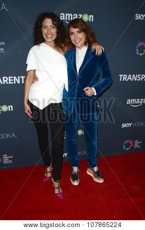 LOS ANGELES - NOV 9:  Lisa Edelstein, Jill Soloway at the