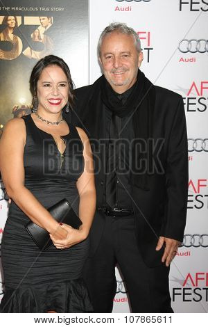 LOS ANGELES - NOV 9:  Patricia Riggen, Checco Varese at the AFI Fest 2015 Presented by Audi -