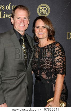 LOS ANGELES - NOV 7:  David Wallace, Lisa Trusel at the Days of Our Lives 50th Anniversary Party at the Hollywood Palladium on November 7, 2015 in Los Angeles, CA