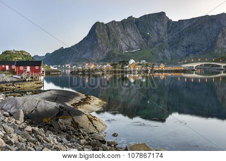 A Small Fishing Port In The Hamnoy, Norway