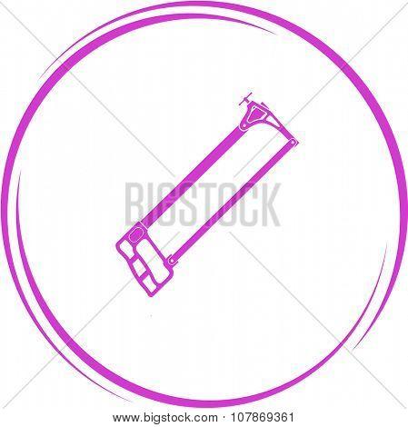 hacksaw. Internet button. Raster icon.