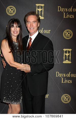 LOS ANGELES - NOV 7:  Victoria Hogestyn, Drake Hogestyn at the Days of Our Lives 50th Anniversary Party at the Hollywood Palladium on November 7, 2015 in Los Angeles, CA
