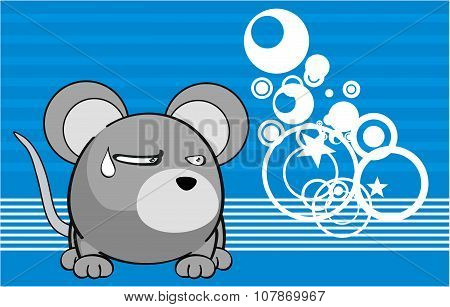 grumpy ball mouse emotion cartoon background