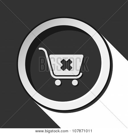 Icon - Shopping Cart Cancel With Shadow