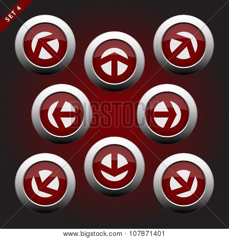 Icons With Arrows, Eight Directions