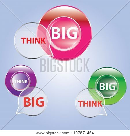 big think icon and button big think