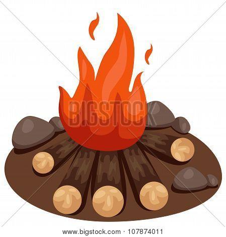 Illustrator of bonfire