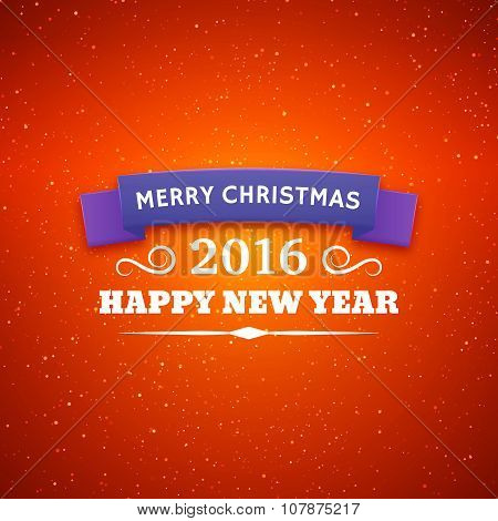 Merry Christmas and Happy New Year 2016 poster