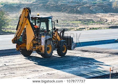 Excavator Staying On The Road